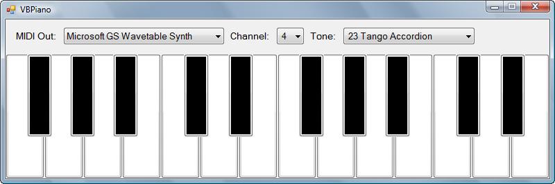 Visual Basic MIDI Piano